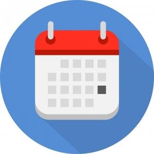 L'icona del calendario internazionale delle fiere bici