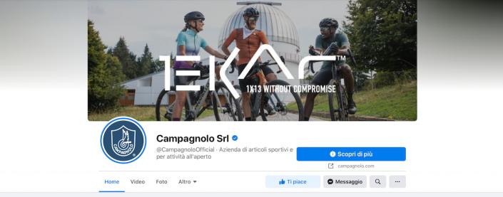 L'immagine di copertina della pagina Facebook di Campagnolo per il lancio di Ekar