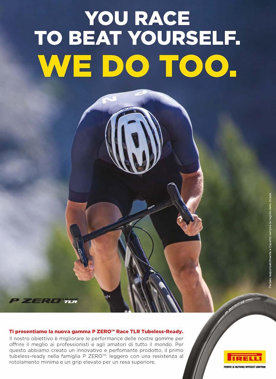 La adv di Pirelli nel numero di Dicembre 2020 di cicloturismo
