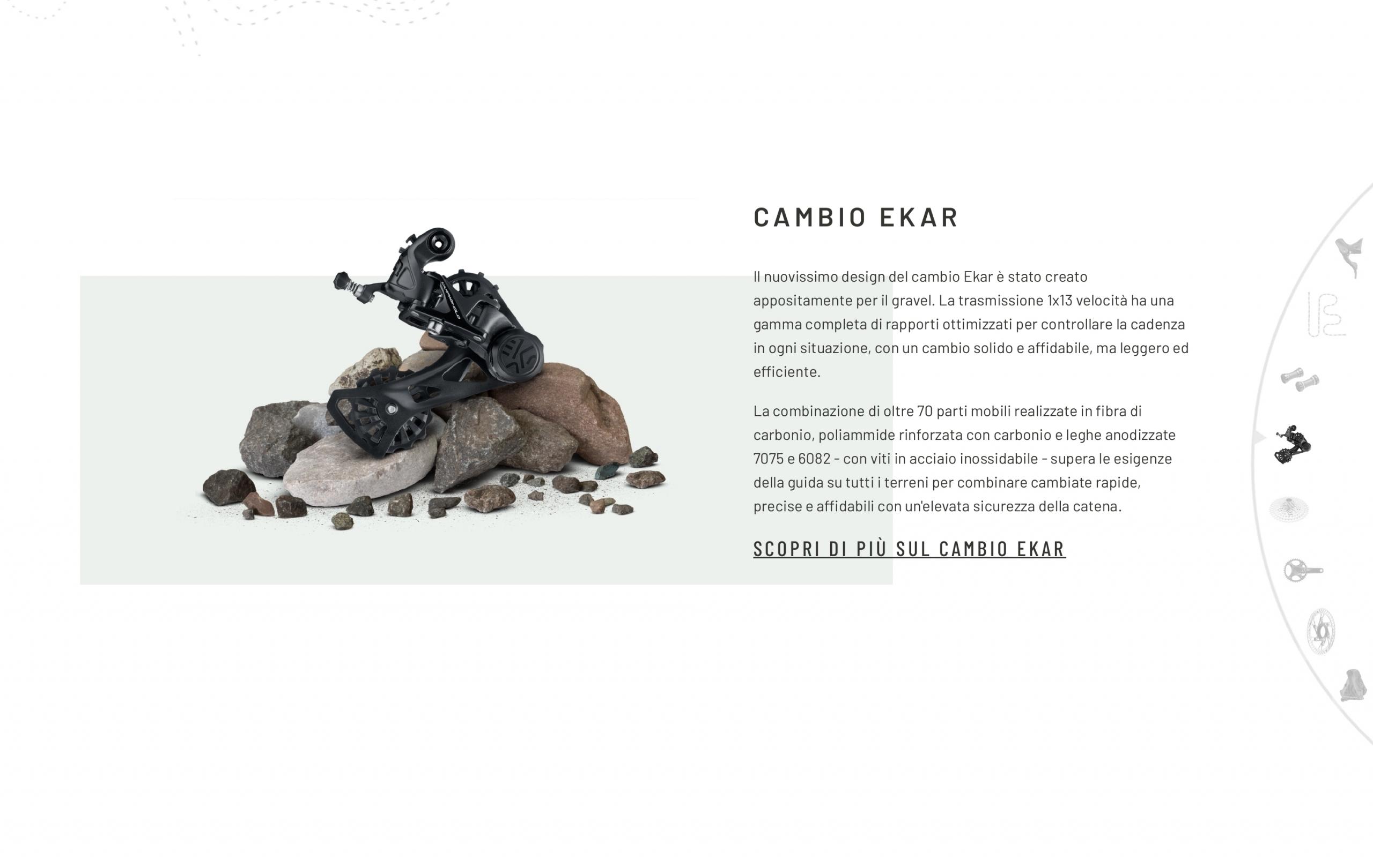 La parte dedicata al prodotto della Landing Page della campagna Born before roads